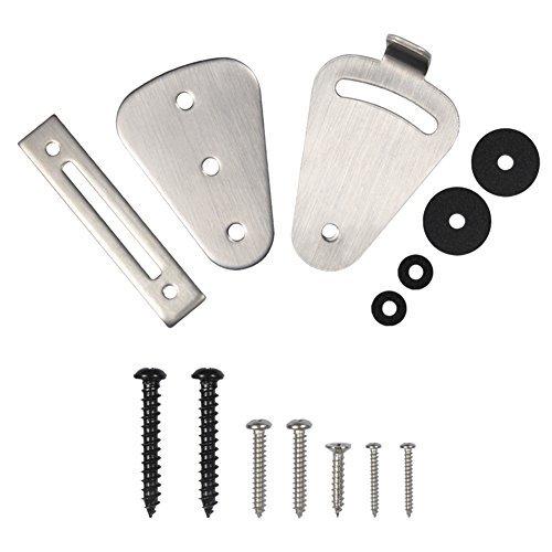 Sliding Door Latch Lock Mini Stainless Steel Lock Set for Sliding Barn Wooden Door Gate Garage Shed Door Brushed Satin Latch