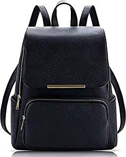 13284c77de1b SALEBOX Metal Flap Leather Bagpack With Pouch Ideal for Casuals &  Professionals Boys/Girls /