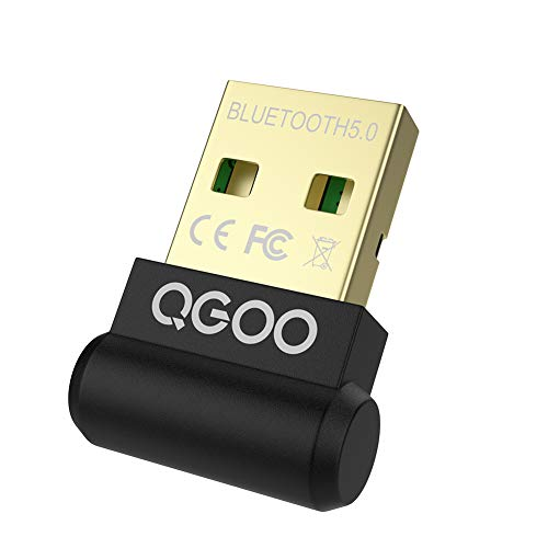 USB Bluetooth Adapter for PC, QGOO Mini Bluetooth 5.0 EDR Dongle for Desktop Computer Wireless Transfer for Laptop Bluetooth Headphones Headset Keyboard Mouse Speakers Printer Windows 7/8/8.1/10