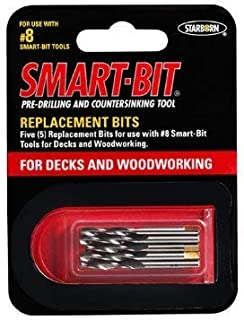 Replacement Bits For No 8 Trim Smart-Bit Pre-Drilling And Countersinking Tool (Item No BDA141)