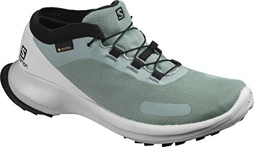 Salomon Damen Trail Running Schuhe, SENSE FEEL GTX W, Farbe: grau (lead/pearl blue/black) Größe: EU 38