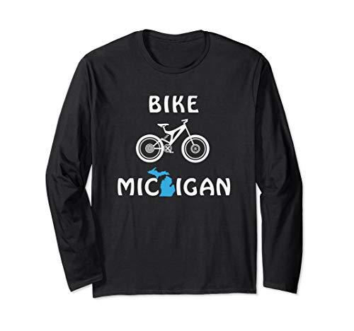 Mountain Bike Michigan for Cyclists & Bicycle Riders Long Sleeve T-Shirt