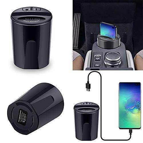 ZUKN Qi 10W Car Wireless Charger Cup, Schnellladehalterung mit USB-Ausgang Handyhalter für Huawei P30 Samsung S10 iPhone 8 X Ladestation - 2