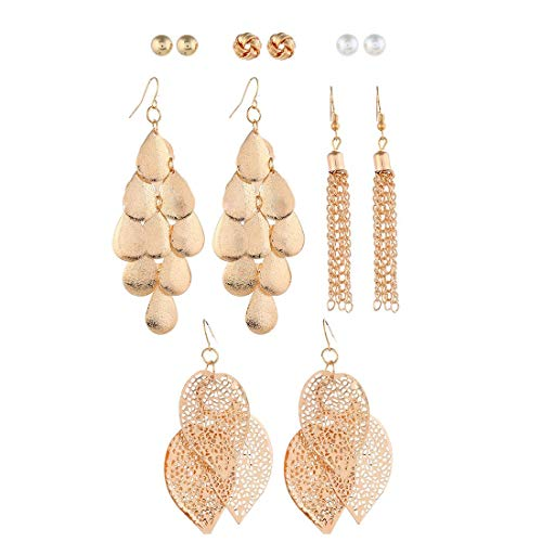 6 Pairs Bohemia Metal Earrings Set{Expires 1/31} [Coupon Code: TKCSOL8F ] (40% off) - $3.6