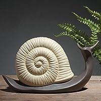 CXF- 工芸・クラフト 北欧のカタツムリの装飾品セラミック工芸品家具装飾デスクキャビネットオフィス装飾小さな装飾品アート装飾 (サイズ : B)