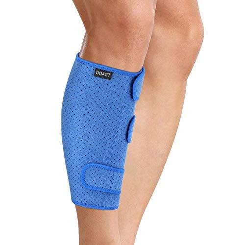 Wadenbandage Muskelfaserriss, Wadenbandage Verstellbar Beinschützer Atmungsaktiver Schienbeinschoner mit Klettverschluss Schienbeinschützer, Verstellbare Wadenstütze Kompressions Waden Bandage