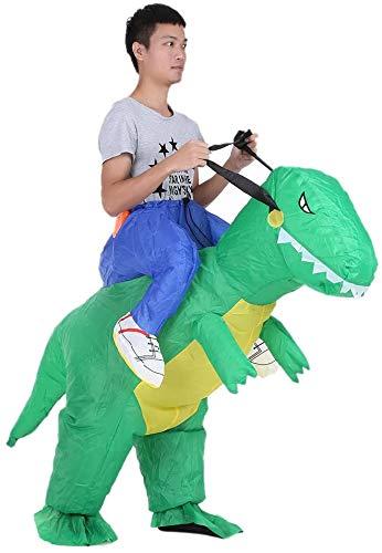 Divertido disfraz de mueca divertido caminar Animal Mount Tyrannosaurus dinosaurio ropa inflable pantalones nios adultos