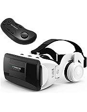 TLLY Gafas de Realidad Virtual con Control Remoto Gafas 3D Gafas compatibles con iPhone y teléfono Android Protección Ocular, Distancia Ajustable para teléfonos de 4,7 a 6 Pulgadas