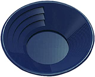 """SE GP1014BL14 14"""" Blue Plastic Gold Pan with Two Types of Riffles"""