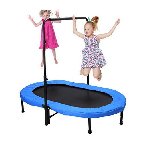 Image of Fashionsport OUTFITTERS Mini Trampoline, Parent-Child Trampoline for Two Kids-Blue