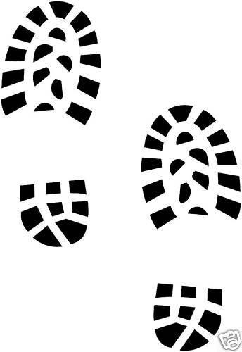 Vinyl-Aufkleber für Bootprint / Fußabdruck / Schuhe, Aufkleber