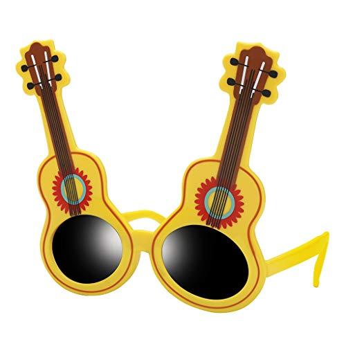 yotijar Festival Novedad Gafas de Sol Gafas de Fiesta Divertidas Disfraz de Tema Mexicano - Guitarra, Individual