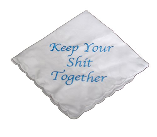 Keep Your Shit Together Wedding Handkerchief in (Blue)
