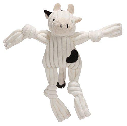 12. HuggleHounds Barnyard Plush Corduroy Squeaky Toy