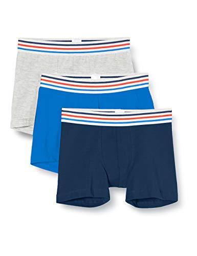 Schiesser Jungen Multipack 3Pack Shorts_168308 Boxershorts, Mehrfarbig (Sortiert 7 918), 164 (3er Pack)