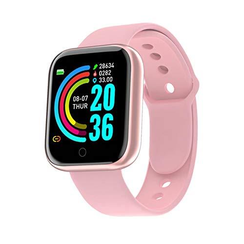 Smart Watch Men SportWatch SmartWatch Monitor De Ritmo Cardíaco Pulsera De Presión Arterial Pulsera De La Aptitud para iOS Android Y68 Smart Watch (Color : Pink)