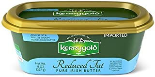 Kerrygold Reduced Fat Spreadable Irish Butter, 8 Ounce all-natural Butter Made with Milk from Grass-Fed Cows