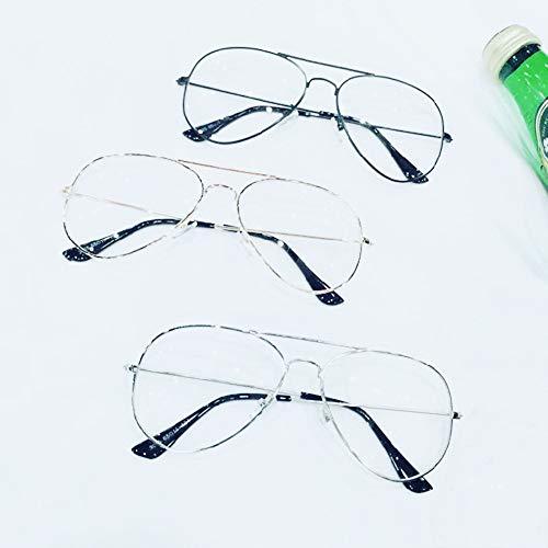 Blaulichtfilter Retro Runde Brillen 3 Paare, Klassische Mode Vogue Dünne Metallbrillen, Klare Brillengläser Anti-Strahlung Einfaches Glas Mit Schlankem Metall Runde Brillengestell