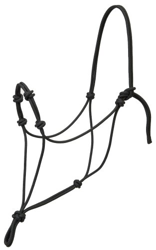 Weaver Leather Silvertip Four Knot Rope Halter, Black, Average