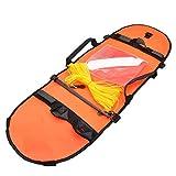 Equipo De Buceo De Pesca Submarina De Buceo Boya Inflable Bandera De Señal De Alta Visibilidad para El Buceo Pesca Submarina De Buceo Snorkel Piscina Naranja