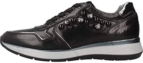 Nero Giardini Donna Sneaker A806580D Verdegris Scarpe in Pelle Autunno Inverno 2019