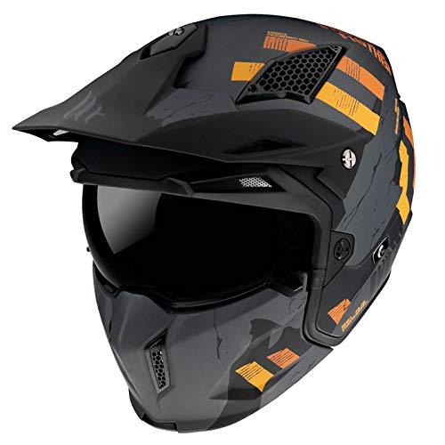 MT Helmets Streetfigther Skull 2020 Matt Gray - Casco de Moto (M)