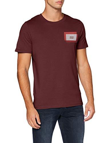 JACK & JONES Herren JCOCOOL Tee SS Crew Neck Shirt, Port Royale/Fit:Slim-SMALL SCLAED AW, XL