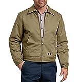 Dickies Men's Insulated Eisenhower Front-Zip Jacket,Khaki,Large/Regular,Khaki,Large/Regular