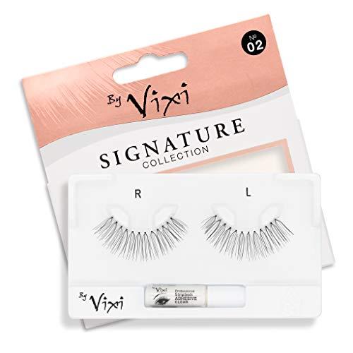 By Vixi De Faux Cils (Réutilisable avec 1g de COLLE) Bande Transparent Ultra Confortable - Signature No. 02