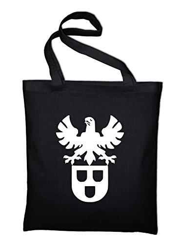 Maler und Lackierer Zunft Wappen Logo Jutebeutel, Beutel, Stoffbeutel, Baumwolltasche, schwarz