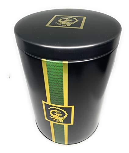 Perfekto24 Teedose im Dragon Design – Tee Aufbewahrung mit Aromadeckel Platz für 250g – auch als Geschenkidee geeignet