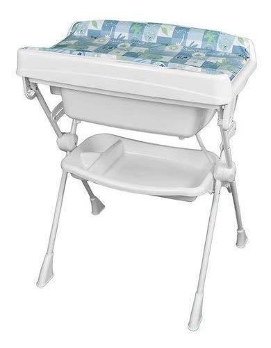 Banheira Com Trocador Splash Peixinhos Azul Burigotto