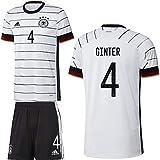 adidas UEFA Fußball DFB Deutschland Heimset EM 2020 Home Kit Trikot Shorts Kinder Ginter 4 Gr 152