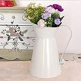 Liseng Vintage Hoch Ramponiert Einzigartig Sahne Vase Emaille Krug Krug Hochzeit Wohn Kultur