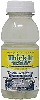 Thick-It Aquacare H2O Nectar Consistency Thickened Water Beverage, 8 Ounce (Pack of 24)