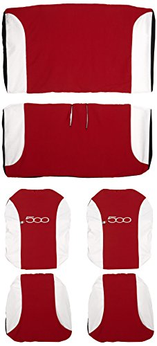 Lupex Shop 500 _ R. Bi Housses de sièges Bicolores, Rouge/Blanc