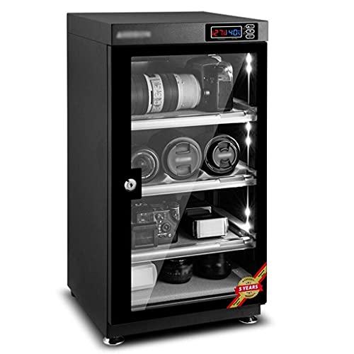 PIVFEDQX Gabinete seco electrónico, Caja deshumidificadora para Almacenamiento de Lentes de cámara y Equipo óptico, estantes Ajustables, iluminación LED, silencioso y de bajo Consumo