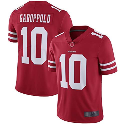 EWRFS Camisetas Personalizadas de fútbol Americano Jimmy Francisco San 49ers Garoppolo # 10 Ropa Deportiva de Secado rápido para Hombres Vapor Untouchable Limited Jersey - Rojo (Rojo, XXXL)