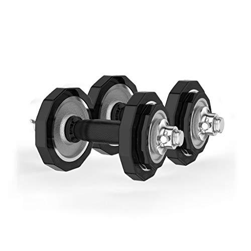 WFS Pesas Gimnasio Pesas Pesas Barra Conjunto Equipamiento de Hogar for Hombres Y Mujeres Gimnasio Trabajar El Ejercicio de Formación Incluye La Biela Musculación (Peso : 10Kg(5kg*2))