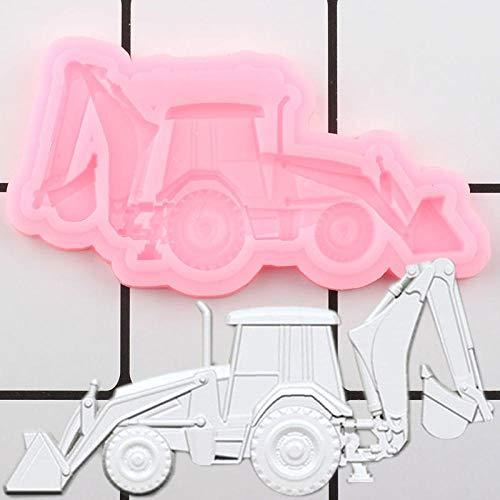 Silikon Backformen Formen 3D Bagger Auto Silikonform Kuchen Grenze Formen Diy Baby Geburtstag Kuchen Dekorieren Tools Süßigkeiten Schokoladenformen