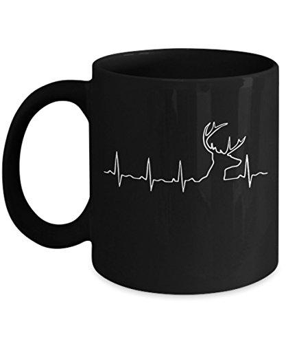 Hunting Heartbeat Deer Hunt Coffee Mug - A Great Novelty Mug For Hunters