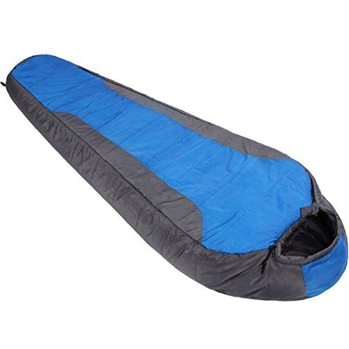 Yy.f 0 Degré Sac De Couchage Momie Ultra-léger Sacs Portables Compression Adapté Pour Le Camping En Plein Air Voyage Sac De Couchage De Camping Multi-fonctions. Allumez L'eau (bleu Et Rouge),Blue-210*80*50cm