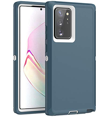 MXX Galaxy Note 20 Ultra Heavy Duty Protective Case with [3 Layers] Rugged Rubber Shockproof Protection Cover for Galaxy Note 20 Ultra (Tuscan Teal/White)