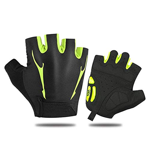 KAUTO Gloves Bike Cycling Gloves for Men Riding Gloves Bicycle Mountain Bike Gloves Half Finger Men and Women Spring and Summer Cycling Short Finger Gloves Breathable Shock Absorption Anti-Skid B L