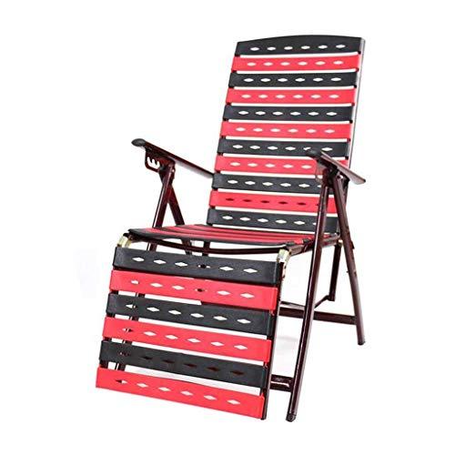 WYJW Verstelbare klapstoel Kunststof tuinstoelen Zero Gravity Lounge Fauteuil Garden Beach Breakfast Fauteuil
