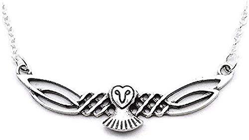 Yiffshunl Collar Joyería de búho de Moda Collar de Cadena con Colgante de búho Celta para Hombres y Mujeres