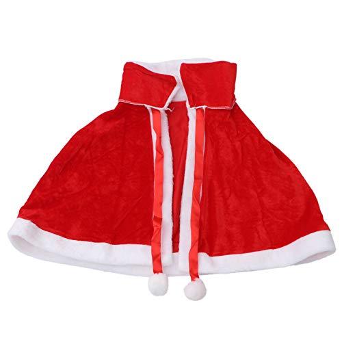Holibanna Chal Disfraz Traje de Navidad Vestido de Chal Festival Regalo Adulto(Rojo)