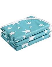 3 almohadillas impermeables para cambiar pañales, esterilla portátil para pañales, funda lavable para protector de colchón de cuna para bebés(M (50 * 70cm)
