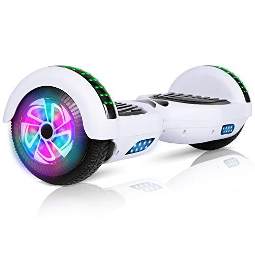 jolege Hoverboards, Elektroroller für Kinder Erwachsene Selbstausgleichendes Skateboard LED Licht 6,5-Zoll-Zweiradrolle mit Bluetooth Lautsprecher, die Beste Geschenkauswahl - UL 2272 Zertifiziert