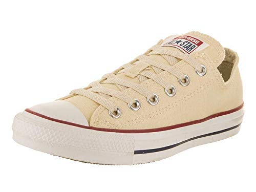 Converse Unisex Chuck Taylor All Star Low Top Natural White Sneakers - 8.5 B(M) US Women / 6.5 D(M) US Men